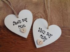 Shabby personalised Gift Tags Set Of 2.. Husband Wife Wedding / Anniversary..